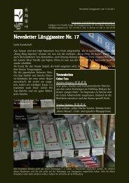 Newsletter Nr. 17 vom 13. Januar 2011 - Länggass-Tee