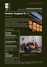 Newsletter Nr. 13 vom 11. September 2010 - Länggass-Tee