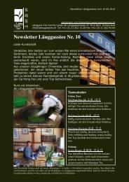 Newsletter Nr. 10 vom 10. Juni 2010 - Länggass-Tee