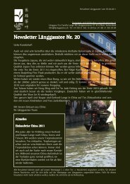 Newsletter Nr. 20 vom 7. April 2011 - Länggass-Tee