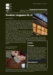 Newsletter Nr. 24 vom 13. August 2011 - Länggass-Tee
