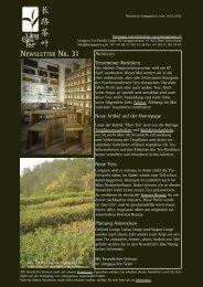 Newsletter Nr. 31 vom 14. März 2012 - Länggass-Tee
