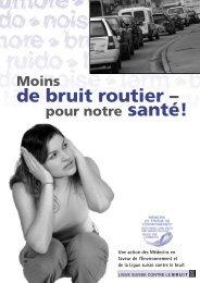 de bruit routier –