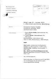 Urteil vom 31. Januar 2011 I. öffentlich-rechtliche Abteilung - Lärm.ch