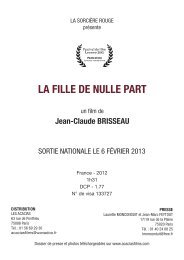 La Fille de nulle part - Mont Blanc Distribution