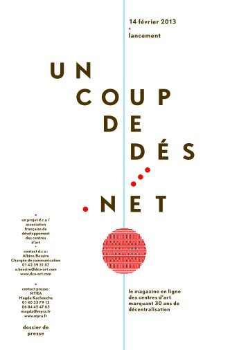 14 février 2013 lancement - Ministère de la Culture et de la ...