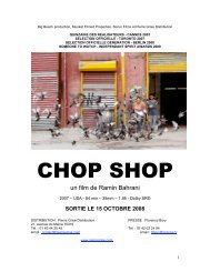 Chop Shop - Dossier descriptif - La Ferme du Buisson