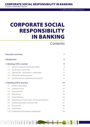 CORPORATE SOCIAL RESPONSIBILITY IN BANKING - Lafferty