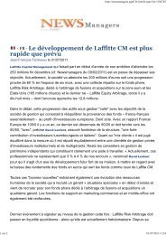 Newsmanagers 01/07/11 - Laffitte capital management