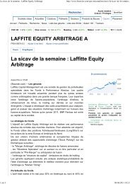 Boursier.com 06/11 - Laffitte capital management