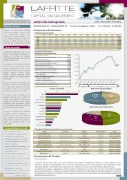 Laffitte Risk Arbitrage Ucits - Laffitte capital management