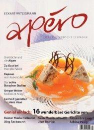 Eckard Witzigmann; Apero – Titelseite und Bericht - la fleur du ...