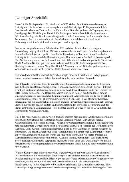 Leipziger Spezialität - LAG Medien eV