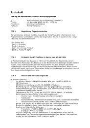 Protokoll Bezirksvorstandssitzung - LAG Medien eV