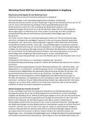 Workshop Druck 2013 bei manroland websystems ... - LAG Medien eV