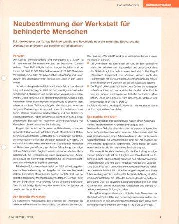 behinderte Menschen - LAG Niedersachsen WfbM