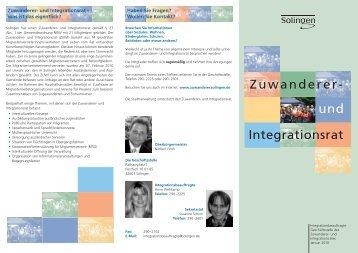 Zuwanderer- und Integrationsrat