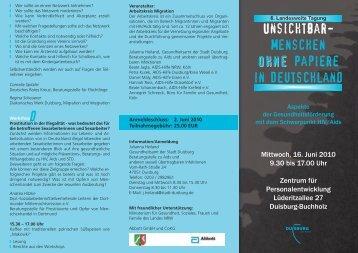 Unsichtbar- Menschen ohne ohne Papiere in Deutschland