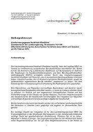 Stellungnahme des Landesintegrationsrates zum ...
