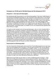 Kampagne Bundestagswahl 2013 - beim Landesintegrationsrat NRW