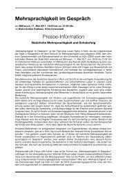Dokumentation der ersten Tagung (PDF) - beim ...