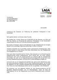 Brief des LAGA-Vorsitzenden an die Mitglieder nach ...