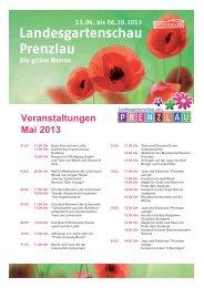 Veranstaltungen Mai 2013 - Landesgartenschau Prenzlau 2013
