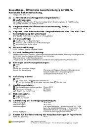 Öffentliche Ausschreibung § 12 VOB/A Nationale Bekanntmachung.