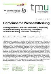 PM TMU TMB - Landesgartenschau Prenzlau 2013