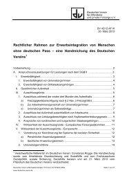eine Handreichung des Deutschen Vereins - Deutscher Verein