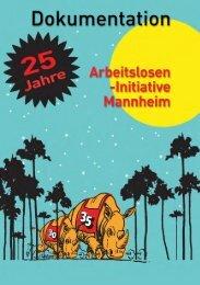 25 Jahre Arbeitsloseninitiative Mannheim - BAG-SB