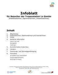 Infoblatt - Tropenstation | La Gamba