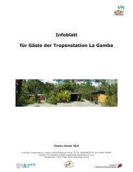 Infoblatt für Gäste der Tropenstation La Gamba