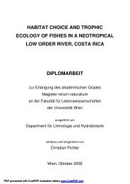 habitat choice and trophic ecology of fishes in a neotropical low ...