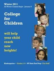 College for Children - LaGuardia Community College - CUNY