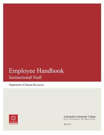 Instructional Staff Handbook - LaGuardia Community College