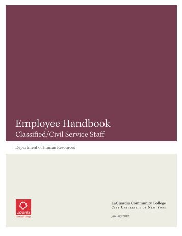Civil Service Handbook - LaGuardia Community College