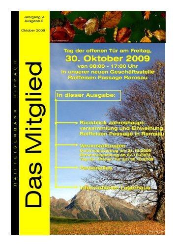 Oktober 2009 - Raiffeisen Lagerhaus Hippach