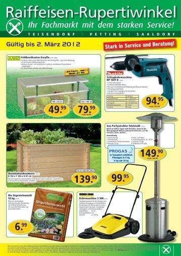 Gültig bis 2. März 2012 - Raiffeisen-Lagerhäuser Rupertiwinkel