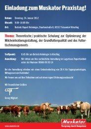 Einladung zum Muskator Praxistag! - Raiffeisen-Lagerhäuser ...