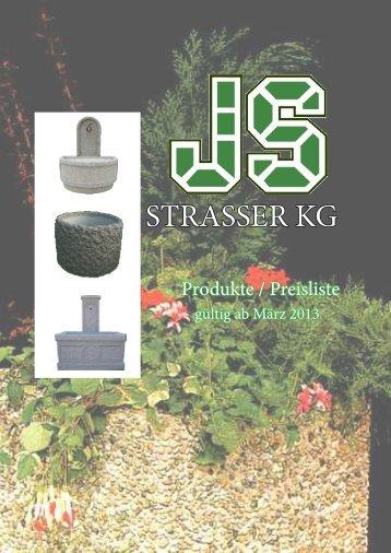 JS Strasser KG - Betonerzeugnisse - Raiffeisen Lagerhaus Hippach