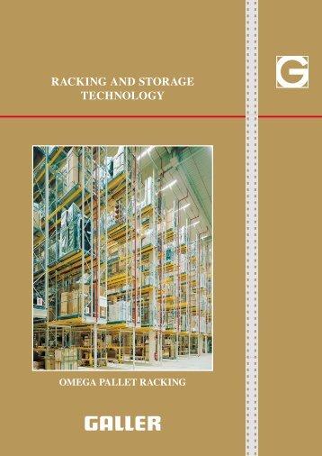 Brochure in PDF - Pallet racking