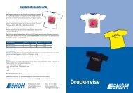 Preisliste Textilveredelung - Eskon Arbeitsschutz Gmbh