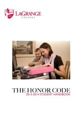 2012-2013 Honor Code Student Handbook (.pdf) - LaGrange College