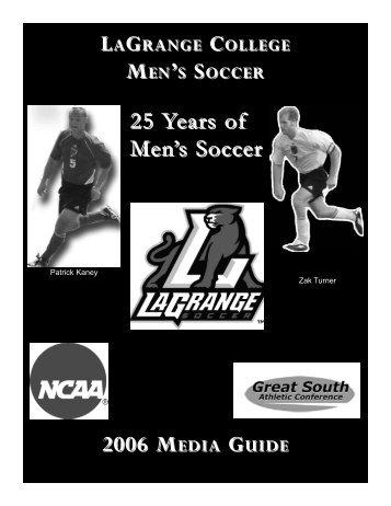 Men's Soccer 2006 Media Guide.qxp - LaGrange College