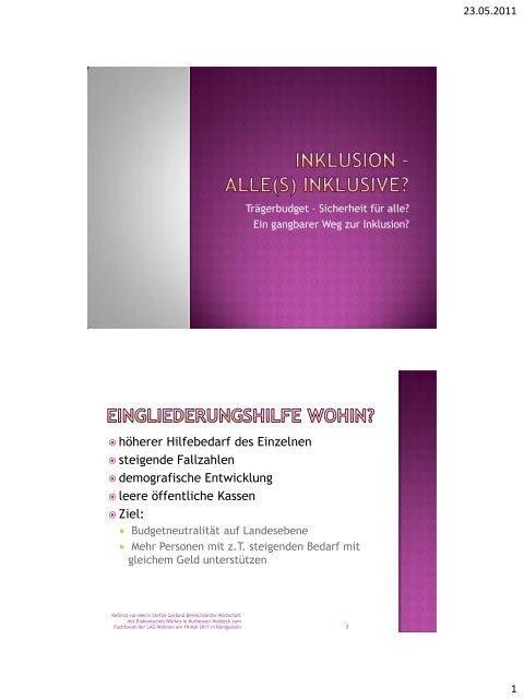 Vortrag als PDF - LAG Wohnen für behinderte Menschen e.V.
