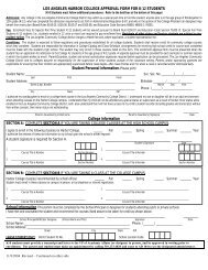 LOS ANGELES HARBOR COLLEGE APPROVAL FORM FOR K-12 ...