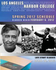 spring 2012 WEB SCHEDULE.indd - Los Angeles Harbor College