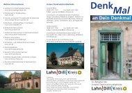 Flyer Denkmal 1a.indd - Lahn-Dill-Kreis