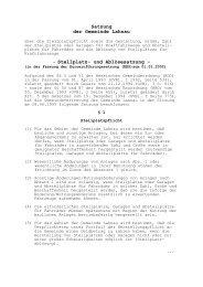 Satzung der Gemeinde Lahnau - Stellplatz- und Ablösesatzung -